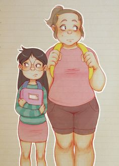 i think a lot about candy and grenda before they met mabel/going back to school without her… :
