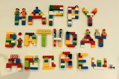 Good idea for party invitations - written in lego: print out 4x6 and put info on back of pic!