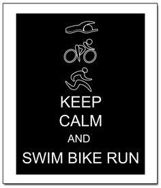 Keep Calm Triathlon Run Bike Swim 11x14 by ATimeAndPlaceDesign, $14.00
