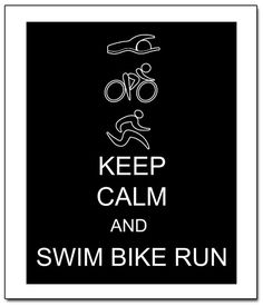 Keep Calm Triathlon Run Bike Swim 11x14 by ATimeAndPlaceDesign, $14.00