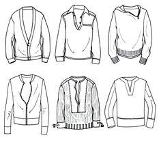 Men's Knit - top right corner