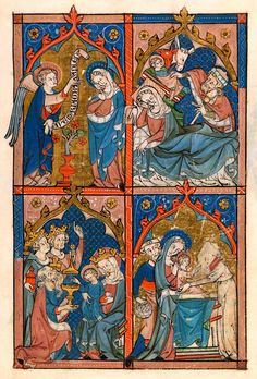 Annunciation, Nativity, Adoration of the Magi and Presentaiton of Christ | Psalter | England, East Anglia or London | ca. 1300-1310 | The Morgan Library & Museum