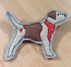 Border terrier brooch terrier applique pin by LoobieandBoo on Etsy Pit Terrier Mix, Fox Terrier, Pitbull Terrier, Boston Terrier, Free Motion Embroidery, Machine Embroidery, Felt Embroidery, Dog Template, Felt Brooch