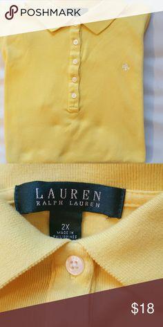 Ralph Lauren. 2X Polo shirt Yellow  Polo. Ralph Lauren  Tops