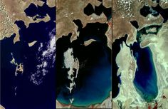 Land Remote Sensing Image Collections - The Aral Sea - 1977 - 2006