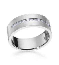 Jeff Cooper - Luxury Platinum 7.5mm Men's Wedding Band
