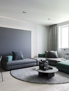 The living room color schemes to give the impression of more colorful living. Find pretty living room color scheme ideas that speak your personality. Living Room Furniture, Living Room Decor, Living Spaces, Living Room Chairs, Loft Design, House Design, Wall Design, Modern Minimalist Living Room, Bedroom Modern