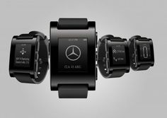 The Mercedes Pebble Smartwatch is Synced with Your Car #smartwatches trendhunter.com