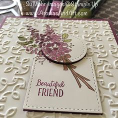 Lots of Lavender colored with Stampin' Blends