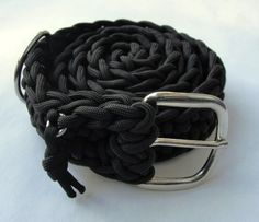 550 Paracord Survival Belt - Black with Buckle