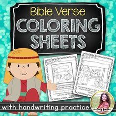 Bible Coloring Sheets Set 1