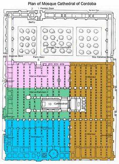 Plano de la Mezquita con fases de expansión