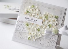 Wedding Card - Essential products for this project can be found on… Wedding Cards Images, Wedding Cards Handmade, Beautiful Handmade Cards, Greeting Cards Handmade, Pretty Cards, Love Cards, Quilled Creations, Romantic Cards, Engagement Cards