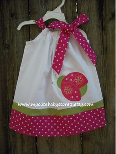 Red Ladybug Pillowcase dress.