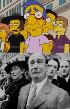 Scenes from 'The Simpsons' to recreate historic photos