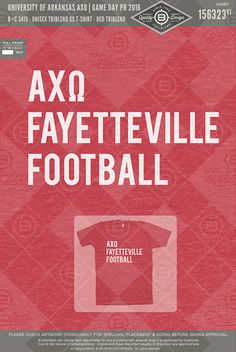 University of Arkansas AXO Game Day PR #BUnlimited #BUonYOU #CustomGreekApparel #GreekTShirts #Fraternity #Sorority #GreekLife #TShirts #Tanks #AlphaChiO #AlphaChiOmega #AlphaChi #AXO #Football #GreekLetters #Fayetteville #GameDay #Fall #PR