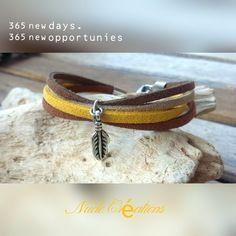 Bracelet suédine moutarde / marron / beige Nude Créations   #bracelet#manchette#plume#suedine#moutarde#marron#paillettes#mode#bijoux#faitmain#hyeres#facebook#automne#hiver#passion Bracelets, Creations, Etsy, Passion, Beige, Facebook, Jewelry, Mustard, Glitter