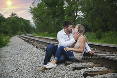 Train Track Engagement  © 2015 Katie Boser Photography | New York's Wedding, Newborn, Child and Family Photographer. Providing fine art photography for Franklinville, including: Bradford PA, Olean Ny, Cuba Ny, Salamanca Ny, Great Valley Ny, Ellicottville Ny, Springville ny, and other surrounding towns.
