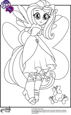 My Little Pony Equestria Girls Coloring Pages | Coloring99.com