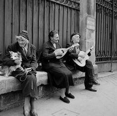 Street Musicians, Paris, 1955.