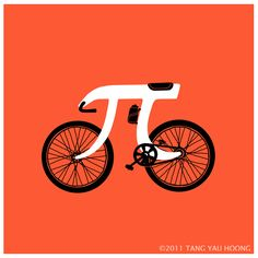 """""""PI-cycle"""" Eat some pie, then ride your bike to a distantly non repeating decimal dewy destination."""