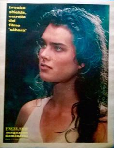 "Brooke Shields in a still from ""Sahara' covers Excelsior Magazine's February 5, 1984 supplement."