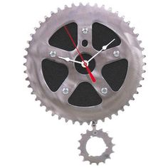 clock made from recycled bike parts fab.com