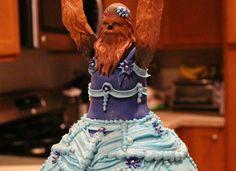 Three year old Sophie's Princess Chewbacca birthday cake