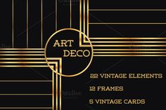 Check out 37 Art Deco Design Elements Vol.1 by FineScrap on Creative Market