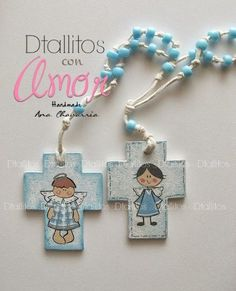 (15) Dtallitos con amor First Communion Favors, Baby Art, Ink Painting, Diy Wall Art, Craft Fairs, Diy And Crafts, Drop Earrings, Projects, Cards