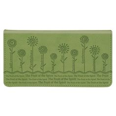 """""""The Fruit of the Spirit"""" Sage Checkbook Cover >>> For more information, visit"""
