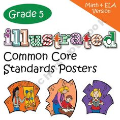 Fifth Grade Common Core Standards Posters - Math and English Language Arts Versions Combined.You can also buy the English Language Arts and mat.-Gotta start collecting ideas on this! 5th Grade Ela, Teaching 5th Grade, 5th Grade Classroom, Fifth Grade, Classroom Fun, Teaching Math, Teaching Ideas, Classroom Posters, Classroom Organization