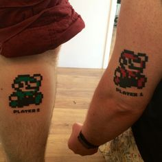 Brother tattoo's. Mario and luigi
