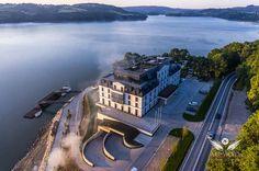 Heron Hotel - Sienna nad Jeziorem Rożnowskim. Zdjęcia z Powietrza by air-video.pl