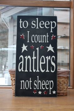 Wooden sign with vinyl lettering  to sleep I count by WordFlower, $40.00