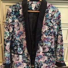 Floral Jacket/Blazer Worn twice and in great condition! No rips/stains Lauren Conrad Jackets & Coats Blazers