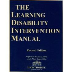 Learning Disability Intervention Manual by Stephen McCarney