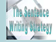 sentence-writing-strategy by kd4bears via Slideshare