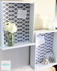 DIY Fabric Bulletin Board from a Thrift Store Drawer - Chic California Diy Décoration, Easy Diy Crafts, Repurposed Furniture, Painted Furniture, Refurbished Furniture, Furniture Makeover, Diy Furniture, Chair Makeover, Furniture Refinishing