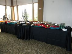 Buffet Table Set Up Shirred Pleat Skirting Catering Favorite S - Catering buffet table setup