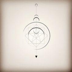 Fibonacci moon tattoo