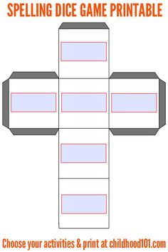 Blank dice template: free download. Print onto card stock ...