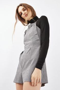 Gingham Frill Playsuit