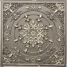 Faux Tin Ceiling Tile – 24 in x 24 in – 18 – Renovation Faux Tin Ceiling Tiles, Wonderful Day, 3d Cnc, Ceiling Panels, Faux Painting, Pvc Vinyl, Ceiling Medallions, Color Tile, Centre Pieces