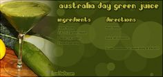 Australian Day Green Juice Recipe Pictures, Photos, and Images for Facebook, Tumblr, Pinterest, and Twitter