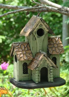 Birdhouse in the Garden https://www.pinterest.com/vickilcb/birdhouses-bird-feeders-and-birdbaths/