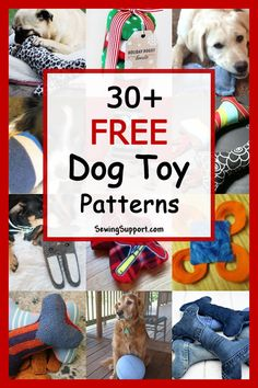 Over 30 Diy Dog Toys you can sew! Make your own homemade, unique dog toys. Fun, cute ideas for large and small stuffed toys, balls, and plush toys. Many instructions for how to make a dog toy. Homemade Dog Toys, Diy Dog Toys, Pet Toys, Sewing Patterns Free Dog, Dog Clothes Patterns, Free Pattern, Free Sewing, Dog Pattern, Pattern Sewing