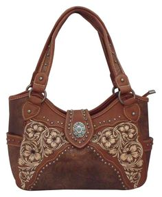 ead5204d866 Montana West Concealed Carry Purse Western Gun Handbag Concealment Brown  CCW NWT