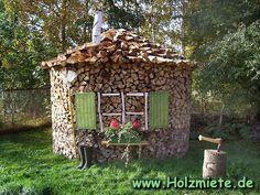 Holzbestand für zwei Jahre mit einem Holzverbrauch von einer Holzmiete