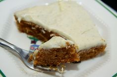 If you bring this to your Holiday party, you're guaranteed to go home with an empty dish an invite to the next party!  Pumpkin Sheet Cake with Vanilla Bean Cream Cheese Icing